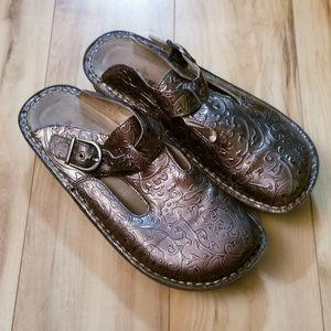 Allegria EU 36/US 6 Bronze Slip On Shoes